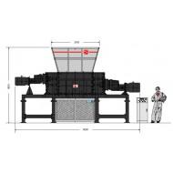 Trituratori 4 alberi: Modello 160160S-MAX, Produzione 8-10 t/h