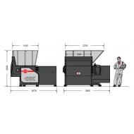 Macinatori monoalbero: Modello MR 40-150, Produzione 2,5-3,5 t/h